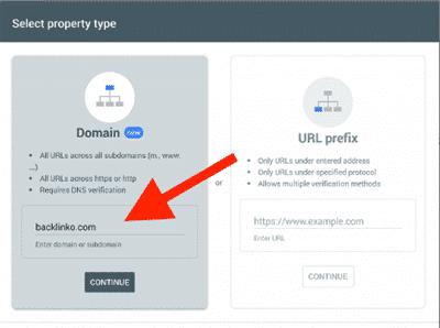 ثبت سایت در سرچ کنسول گوگل از طریق شیوه جدید Domain name